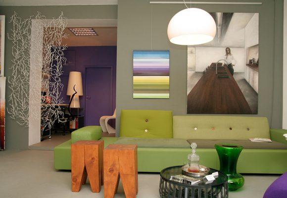 Loungesofa mit Hocker